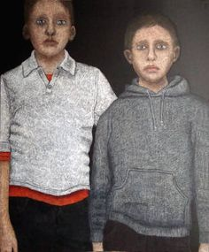 "Saatchi Art Artist Cécile Duchêne Malissin; Painting, ""Brothers"" #art"
