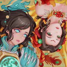 Overwatch Dragon Pharah and Phoenix Mercy