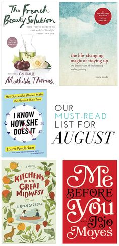Our Must-Read List For August | theglitterguide.com