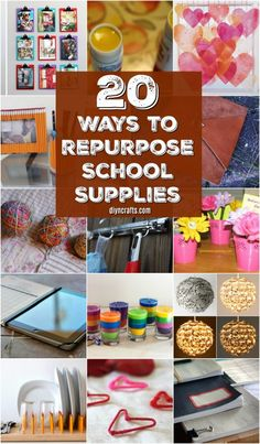 20 maneras de reutilizar Brilliant Esos útiles escolares este verano