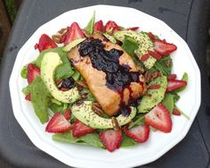 This Spring Blueberry Salmon Salad is delicious and refreshing. Get the full recipe here. Enjoy!