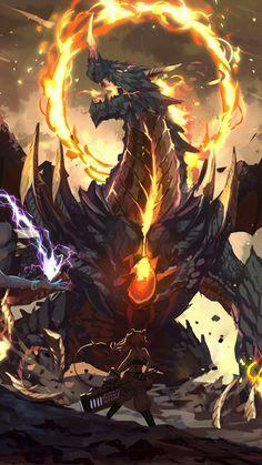 Dark Fantasy Art, Fantasy Artwork, Fantasy World, Fantasy Monster, Monster Art, Mythical Creatures Art, Fantasy Creatures, Cool Dragons, Fantasy Beasts