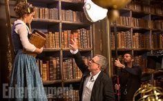 'Beauty and the Beast': See 9 Enchanting, Exclusive Photos | Director/Co-Screenwriter Bill Condon With Emma Watson as Belle | EW.com