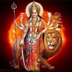 Durga is the Hindu Goddess that destroys demons. Read about the Goddess Durga here. Kali Goddess, Mother Goddess, Saraswati Goddess, Divine Mother, Mantra, Maa Durga Hd Wallpaper, Maa Durga Photo, Maa Image, Happy Navratri Images