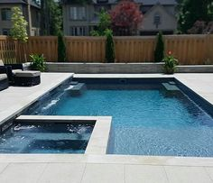 46 Simply Pool Deck Designs For Your Backyard Simply Pool Deck Designs For Your Backyard 49 Small Swimming Pools, Small Backyard Pools, Backyard Pool Designs, Swimming Pools Backyard, Swimming Pool Designs, Pool Landscaping, Backyard Patio, Outdoor Pool, Pool Spa