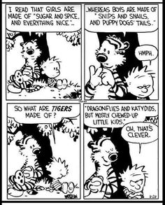 Calvin And Hobbes Quotes, Calvin And Hobbes Comics, Fun Comics, Haha Funny, No One Loves Me, Funny Posts, Comic Strips, Dogs And Puppies, First Love