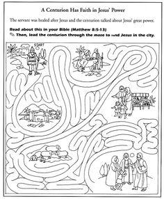 Jesus heal centurion's servant coloring 백부장의 아들 고치심 ...