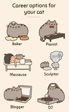 Pusheen: Career options for your cat