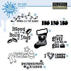 DIGITAL DOWNLOAD ... Christmas vectors in AI, EPS, GSD, & SVG formats @ My Vinyl Designer #myvinyldesigner #deuxtoodesigns