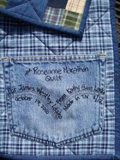 Putting labels on quilts is not only important, but it's another fun and creative component of quilt making.