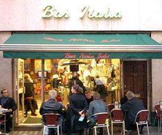 LONDON,  Best Coffee shop   Bar Italia    22 Frith Street  Soho, London  W1D 4RF  Tel: 020 7437 4520