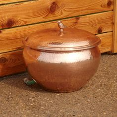 Add Charm To Your Garden And Conceal An Unsightly Hose With This Stunning  Hammered Polished Copper Hose Pot With Lid. Handcrafted From Solid Copper,  ...