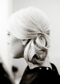 on the side chignon...
