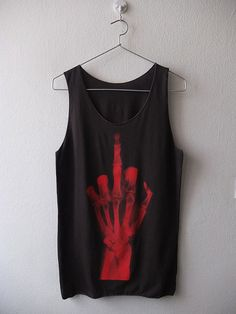 Fk you Xray finger punk goth street fashion rock by Badconceptual, $15.99