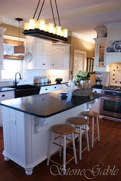 tan walls with white cabinets