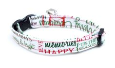 Christmas and Holiday Expressions Breakaway Adjustable Cat Collar with Bell, $9.00 by ShortcakeDesigns