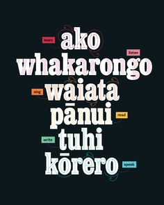 "Te Wiki o te Reo Māori – Māori Language Week 2018 Te Reo Māori Resources The theme of Māori Language Week was ""Kia Kaha te. Learning Activities, Kids Learning, Teaching Resources, Waitangi Day, Maori Words, Class Displays, Maori Designs, Maori Art, School Pictures"