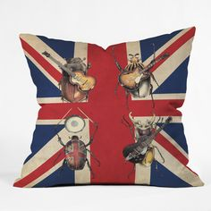 Eric Fan Meet The Beetles Throw Pillow | DENY Designs Home Accessories
