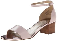 Circa Joan & David Women's Venna Dress Sandal, Light Pink, 10 M US. Adjustable ankle strap for easy entry and secure fit. Joan David, Dress Sandals, Heeled Mules, Heeled Sandals, Partner, Amazing Women, Block Heels, Ankle Strap, Light Blue