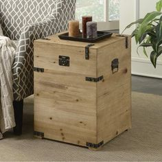 Good Convenience Concepts Laredo Trunk End Table, As Shown