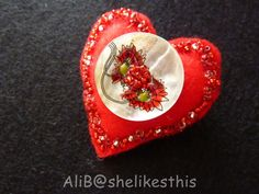 Hey, I found this really awesome Etsy listing at https://www.etsy.com/il-en/listing/450133958/red-brooch-heart-brooch-beaded-brooch
