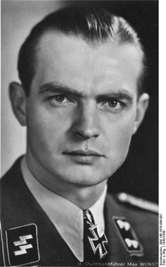 Max Wünsche (20 April 1914 — 17 April 1995) was an SS-Obersturmbannführer (lieutenant colonel) in the Waffen-SS during World War II who was awarded the Knight's Cross with Oak Leaves.