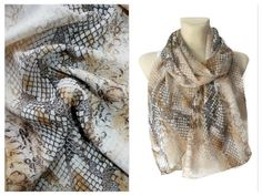 This Brown Snake #Scarf #handmade by #LocoTrends is available now on '#Etsy  www.locotrends.etsy.com #scarves #fashion #accessories #trendingnow