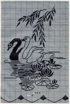 This Pin was discovered by SabBeginning Cross Stitch Embroidery Tips - Embroidery PatternsCrochet on Stylowi. Crochet Patterns Filet, Crochet Bedspread Pattern, Crochet Curtains, Modern Cross Stitch Patterns, Crochet Diagram, Cross Stitch Designs, Crochet Doilies, Cross Stitch Alphabet, Cross Stitch Animals