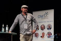 """Nicolas Sacotte bei seinem Vortrag """"Content Marketing mit Trends"""""""