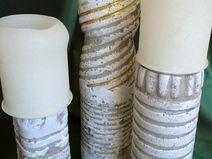 3 Beton Kerzenständer