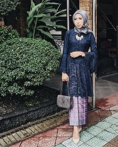 Trendy Wedding Dresses With Sleeves Lace Traditional 54 IdeasI heard that bell sleeves are making its comeback.Image may contain: 1 person Kebaya Lace, Kebaya Dress, Dress Pesta, Batik Kebaya, Dress Brokat Muslim, Kebaya Muslim, Muslim Dress, Kebaya Modern Hijab, Kebaya Hijab