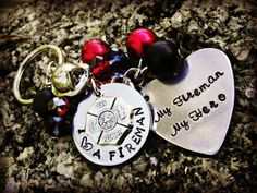 Firefighter Wife Firefighter Girlfriend by CharmletteDesigns, $26.00