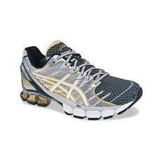 Asics Gel-Kinsei 4 Mens T139N-9001 Black Gold Atheltic Running Shoes Size 13