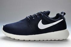 Nike Roshe Run Mesh Womens Dark Blue White UK Cheap Cost