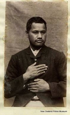 Aporo Paerata rubbed someone out in 1887 and sentenced to death, but his dashing looks must've gotten him a reprieve—he was later given life in prison instead. Vintage Men, Vintage Images, Mug Shots, Cool Photos, Blues, Shit Happens, Death, Cool Stuff, History