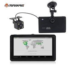 "7"" Android Car GPS Navigation Built-in 8GB with Rear view camera Car dvrs Vehicle gps Navigator Quad-core Bluetooth AVIN sat nav //Price: $87.97//     #shop"