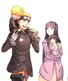 Naruto Bolt and Himawari Uzumaki of Boruto Naruto, so warm and sweet:)