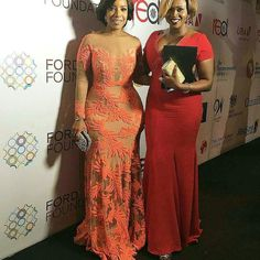 @joselyn_dumas can do no wrong in our eyes ... She looked breath taking at the #tfaa2015 while @officialwaje kept it simple n fab in a red gown.. Love them... #fashion #style #glam #stylish #instalike #instagood #styleblogger #fblogger #ameriesblog