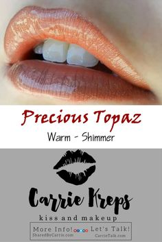 #Precious #Topaz - #LipSense by #SeneGence #Lip #Color - get your Precious Topaz today - #Warm #Shimmer. Message me or CLICK below to find out what I have in stock and to place your Order!  I would #LOVE to help you pick out your Colors and Gloss. www.j-c-k.us/LipSenseColorPics   WEB: www.J-C-K.us/CarrieKreps  MORE INFO: www.J-C-K.us/SharedByCarrie  LET'S CHAT: www.J-C-K.us/CarrieTalk