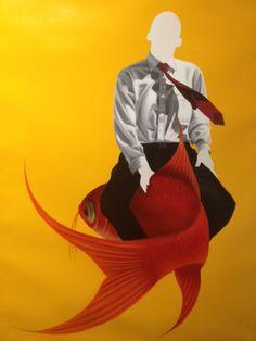 "Xevi Villaro ""Born to Fly Series""Acrylic on Canvas- Original 37 x 28"