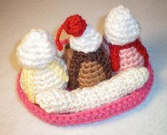 My two favorite things. Ice cream and crochet!!! ;)
