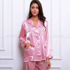 I need knocking up in these pjs as I want to wear them all the time Satin Dresses, Silk Dress, Sexy Dresses, Pyjama Satin, Satin Pajamas, Silk Satin, Satin Fabric, Silk Pjs, Gorgeous Lingerie