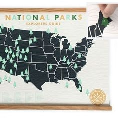 National Park Screen Print and Stickers - I want to go to all of them!!