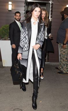 How to Wear Leather Pants Like a Kardashian-Jenner - Kendall Jenner  - from InStyle.com
