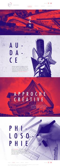 Web design inspiration // architecture