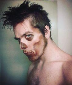 2010. Skull fang war paint. On me by me.  #art #artist #makeup #makeupartist #model #actor #skull #face #fang #warrior #war #paint #warpaint #character #teeth #monster #mohawk #horror #faceoff #instashare #iwilleatyou