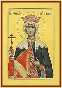 Empress St. Helen<br>- hand painted byzantine icon -<br><div class=size>A3 (11.7 x 16.5 inches)