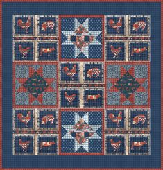 Flags Across the Farm designed by Robert Kaufman Fabrics. Features 4th on the Farm, shipping to stores May 2016. FREE pattern will be available to download from robertkaufman.com in June 2016. #FREEatrobertkaufmandotcom