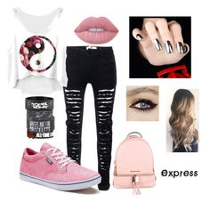 """""""Express"""" by mrs-michael-clifford on Polyvore featuring Vans, Lime Crime and MICHAEL Michael Kors"""