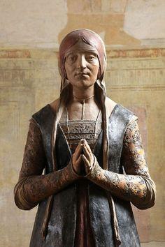 statua di ginevra sforza opera di giuseppe romagnoli facente parte ...